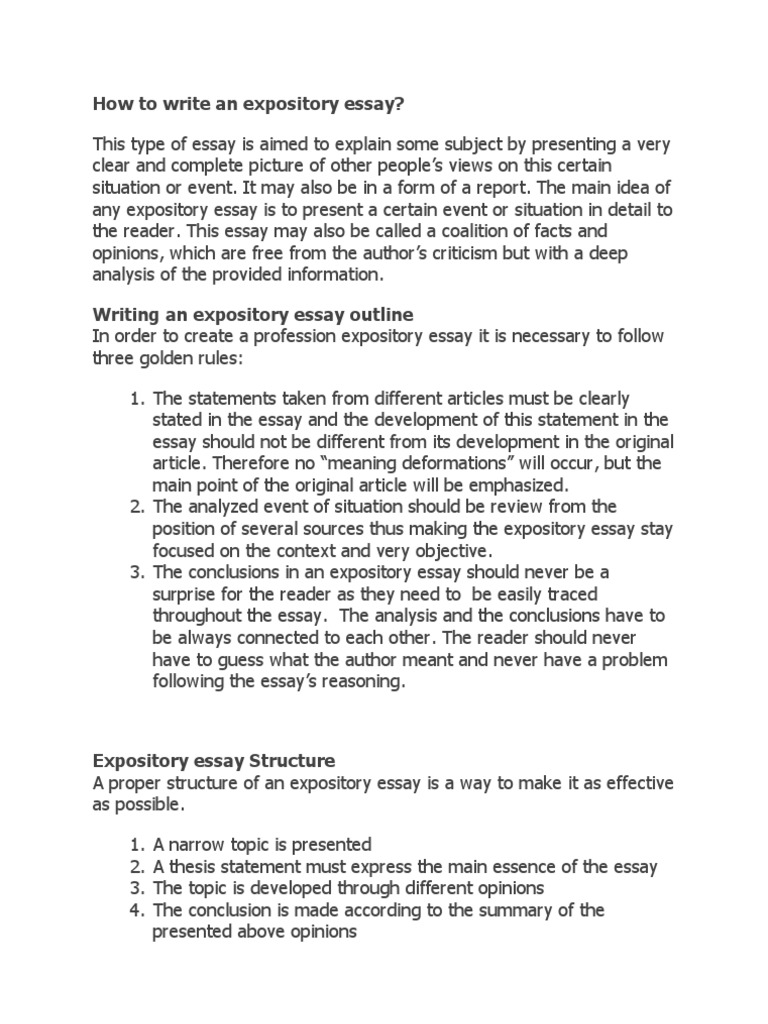 how to write an expository essay essays psychological concepts