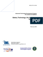 Battery Technology Life Verification Test Manual