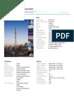 Burj Khalifa Fact Sheet