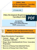 Policy Development Requirements for Biogas Upscaling in India