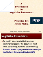 Negotiable Instrument Types