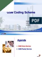 GSM Coding Scheme
