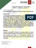 CONCIENTIZACIÓN Y TRABAJOS ECOLÓGICOS  REDUCCIÓN DE BASURA