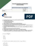 Diagnóstico Matemática NM1 2013 (07-12-2012)