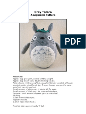 Free Sleeping Totoro amigurumi pattern – amiguruMEI | 396x298
