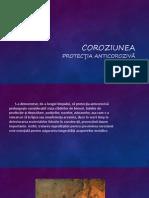 Coroziunea. Protecţia anticorozivă