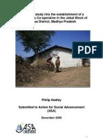 Feasibility Study Into the Establishment of a Goat Farmers Co-Operative in the Jobat Block of Jhabua District, Madhya Pradesh