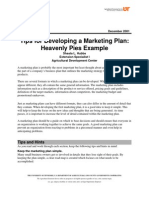 Tips for Developing a Marketing Plan Heavenly Pies Example
