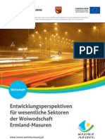 Entwicklungsperspektiven für wesentliche Sektoren der Woiwodschaft Ermland-Masuren