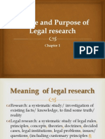 Chap 1 Nature Purpose of Legal Research