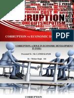 CORRUPTION VS ECONOMIC DEVELOPMENT
