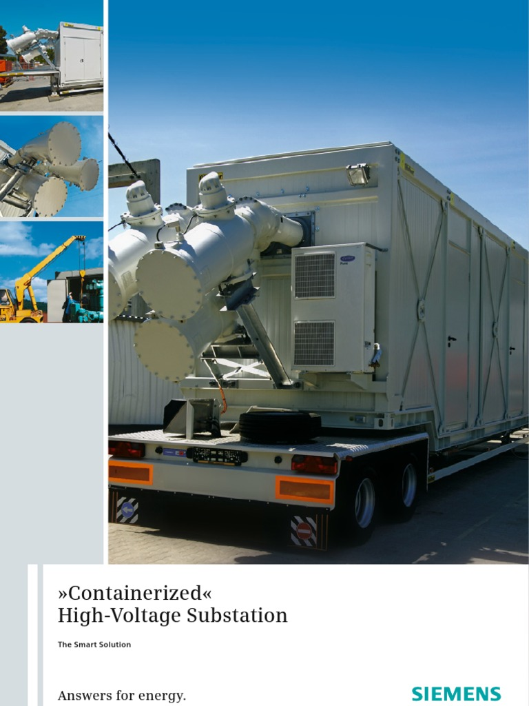 Gis containerized electrical substation for Substation pdf