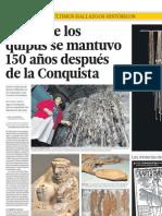 El uso de los quipus se mantuvo 150 años después de la Conquista