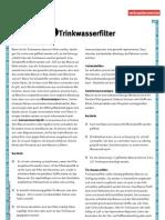 Basisinfo Trinkwasserfilter