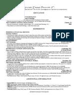Arthur Procter's Resume