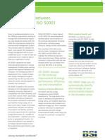ISO 14001 / 50001 Comparison