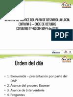Informe Avance Comuna 6