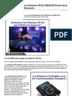 Comment Choisir Vos Platines CD DJ IDEALES Parmi Les 6 Types de Modeles Existants