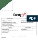 Coaching Menu