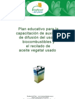 Plan Educativo Aceite Usado