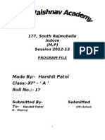 Program File for Class XI 2013