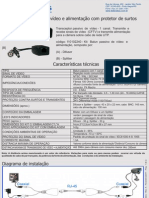 CFTV - 110102240 - Balun Pasivo de Video e Alimentacao Com Protetor de Surtos