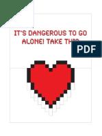Mario-style heart pop-up e-card template
