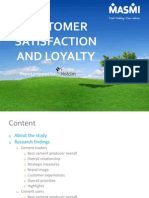 Customer Satisfaction and Loyalty Survey