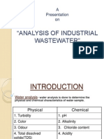 A presentation on analysis of industrial waste water