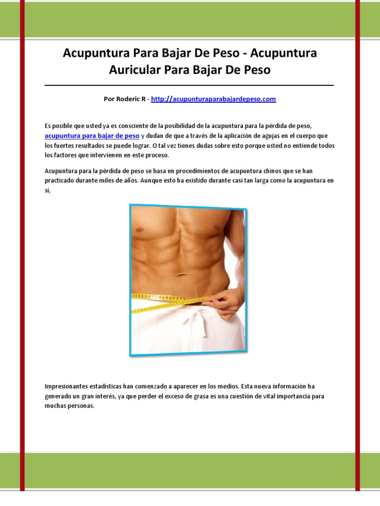 aplicacion perdida de peso