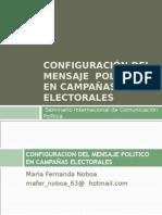 Configuración del mensaje  político en campañas electorales