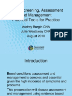 Bowel Screening Assessment and Management Practical Tools for Practice