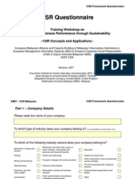 Annex3 CSR Framework Questionnaire