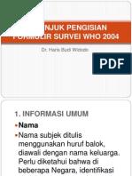 Pengisian Form WHO 2012