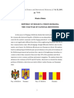 Republic of Moldova Versus Romania- The Cold War of National Identities