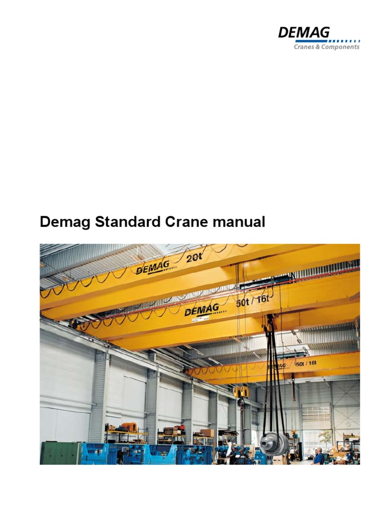 Cranes DEMAG Catalogue | Crane (Machine) | Transmission (Mechanics)