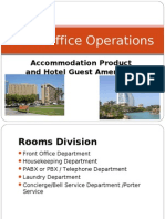 3 Front Office Accommodation Product and Hotel Guest