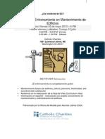 Catholic Charities, Clases de Entrenamiento en Mantenimiento de Edificios, mayo - julio de 2013 (SPANISH)