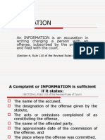 What is an INFORMATION?