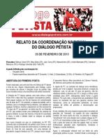 Relato Coordenacao DP - 13.02.25
