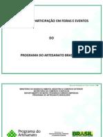 Artesanatos - MANUAL DE PARTICIPAÇÃO EM FEIRAS E EVENTOS