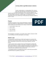 Structuring a Better Legal Memorandum or Opinion
