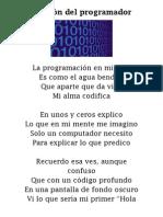 Oración del programador