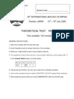 IBO 2009 Theory Paper 1
