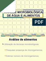 Analise Microbiologica de Agua e Alimentos