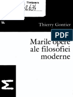 Thierry Gonthier - Marile Opere Ale Filosofiei Moderne