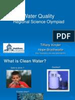 Science Olympiad Water Quality Presentation