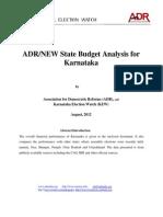Analysis of Karnataka State Budget Final