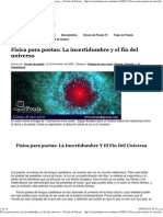 Física para poetas_ La incertidumbre y el fin del universo - Círculo de Poesía