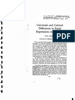 Ekman, 1976, Universals and Cultural Differences in Facial Expressions Of